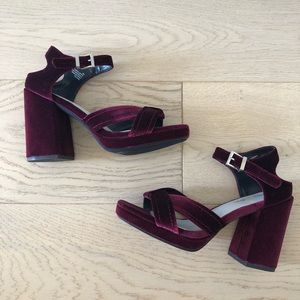 Seven dials chunky heels